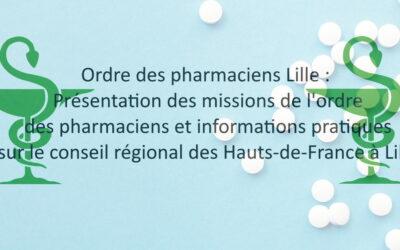 Ordre des pharmaciens Lille